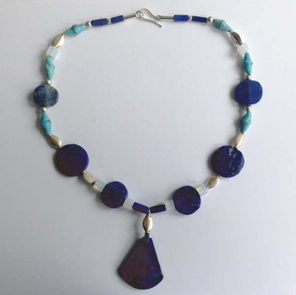 Lapis blue necklace