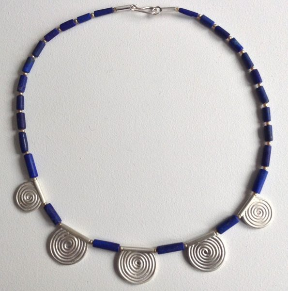Lapis Spirals Necklace