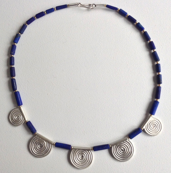 Lapis Spirals Necklace