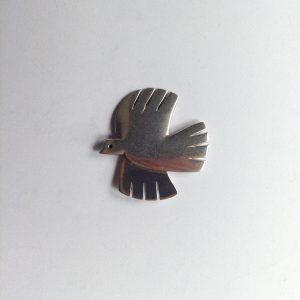 flying dove brooch