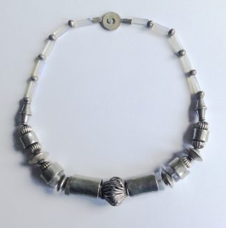 Old silver web necklace