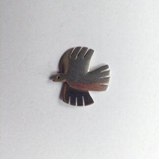 flying dove brooch
